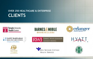 Over 250 healthcare and enterprise clients image